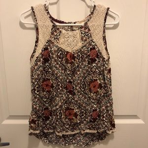 Women's Floral Patterned Tank Top